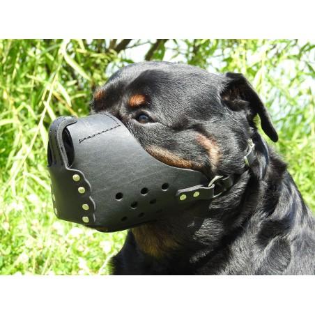 Botnita militara Rottweiler , confectionata din piele naturala